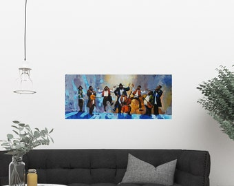 Jewish Musicians/musician painting/oil painting/made to order/large wall art/colorful painting/canvas/ready to hang/music art/israel/artist