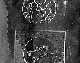 Gobble Gobble Turkey Chocolate Candy Mold with Exclusive FlavorTools Copyrighted Chocolate Molding Instructions T024