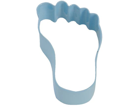 Baby Foot Cookie Cutter 35 Blue Polyresin Coated Etsy