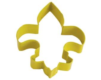 "Fleur De Lis Cookie Cutter Saints Cookie Cutter Yellow Cookie Cutter 4.5"" RM-1141/Y"