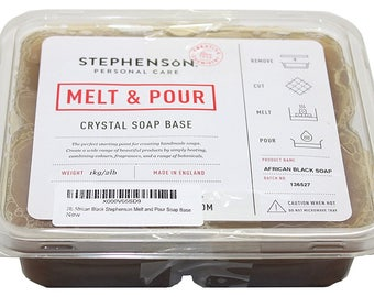Stephenson 4 LB African Black Melt and Pour Soap Base