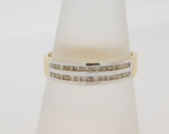 0.33 Carat T.W. Princess Cut Diamond Band 14K Yellow Gold Ring