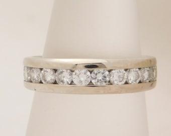 1.50 Carat T.W. Round Cut Diamond Wedding Band14K