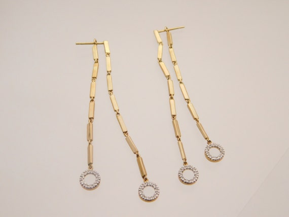 0.20 Carat T.W. Ladies Round Cut Diamond Dangling