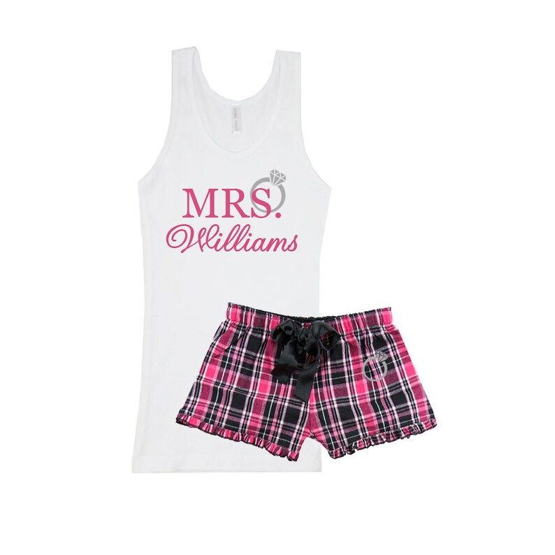 880b2227fd MRS. personalized pajama Soon to be Mrs last name pjs | Etsy