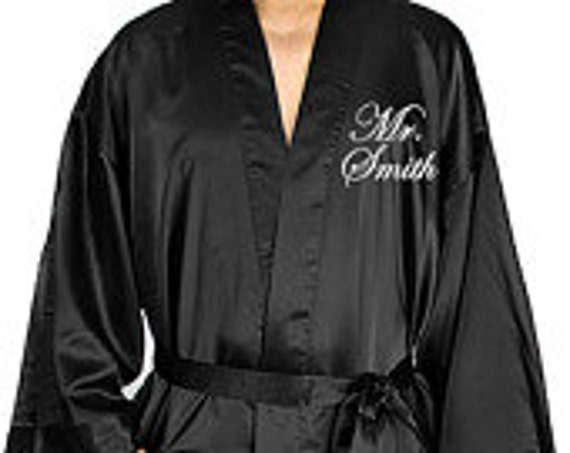 Personalized Satin Groom Robe for the honeymoon, couples shower or wedding gift, groom's robe, groomsmen robe, groomsman, best man robe