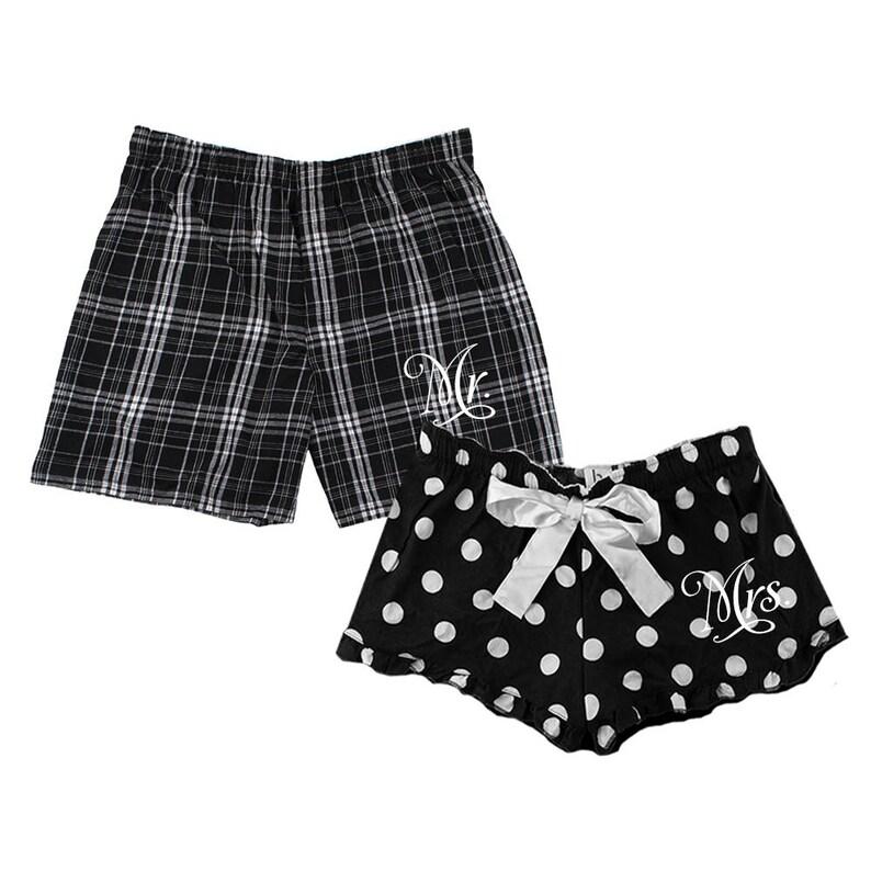 1d04c8961c Mr and Mrs boxer short set Matching Flannel Boxer Shorts mr | Etsy