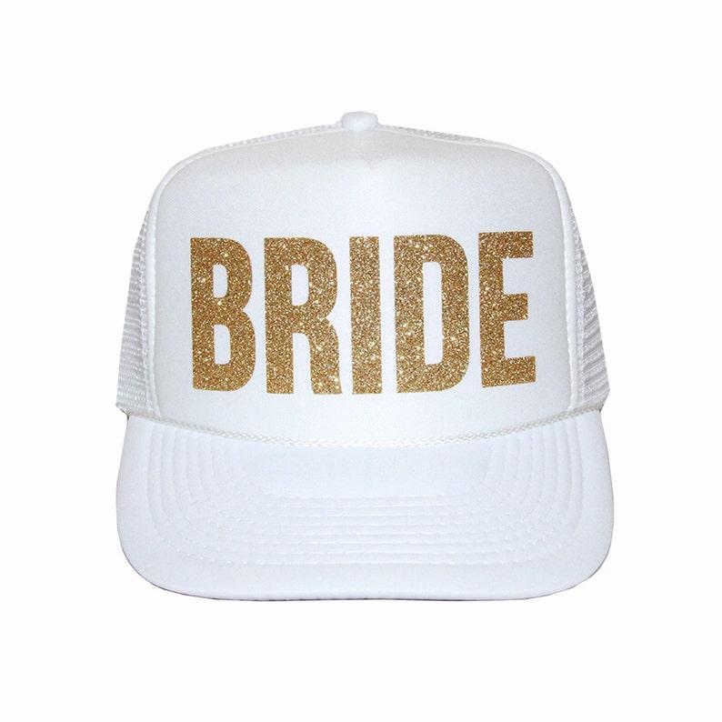 Gorras de camionero novia sombrero del camionero de oro  4ce68511d14
