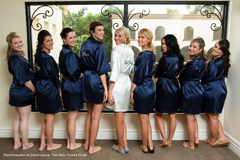 5708362361 Set of 6 Personalized Satin Bridesmaids Robes Bridesmaid