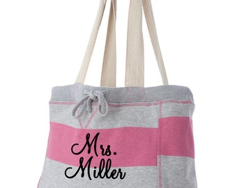 Personalized Monogrammed Beach Bag, monogrammed tote, embroidered bag, tote, bridal shower gift idea, engagement party or honeymoon