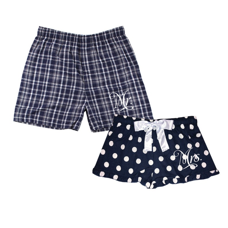 Mr and Mrs boxer short set Matching Flannel Boxer Shorts mr  a1d860fc4