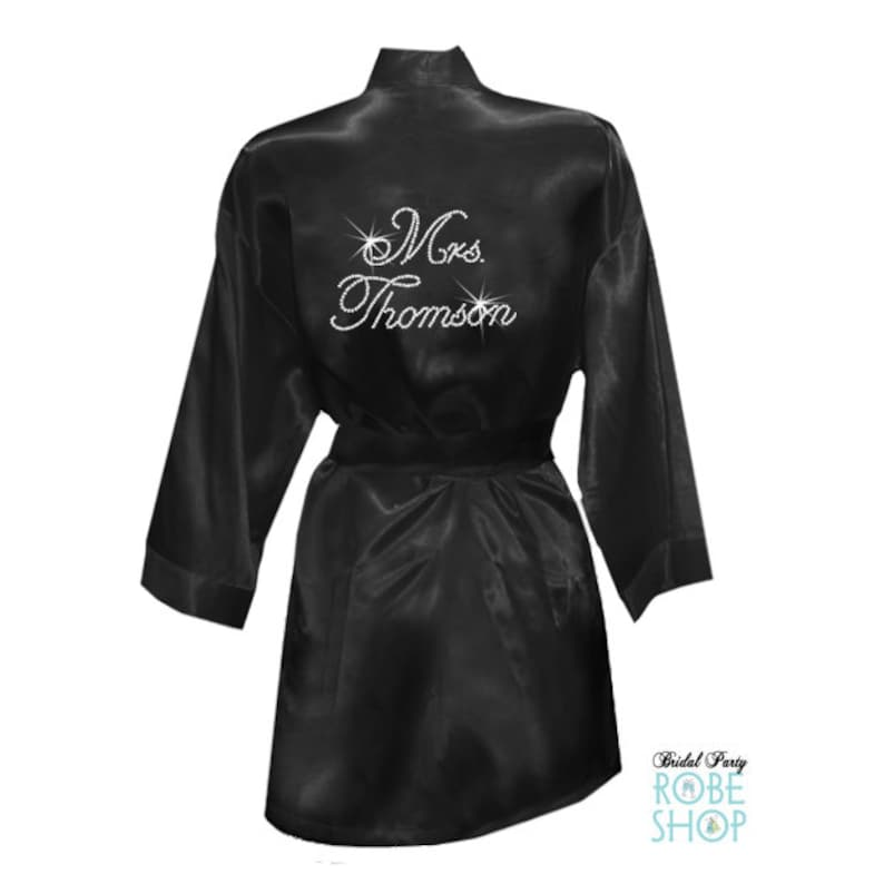 Crystal Embellished Mrs. Robe with new last name c4cdc5dab