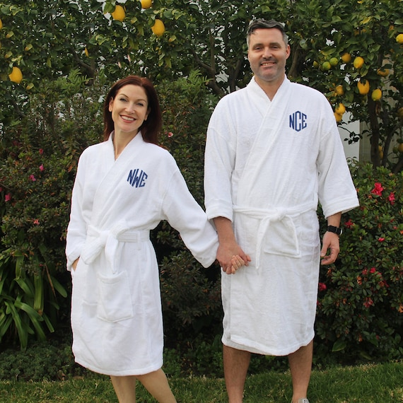 c5e0cbc792 Set of 2 Mr. and Mrs. Robes Monogrammed Robes Terry Cloth