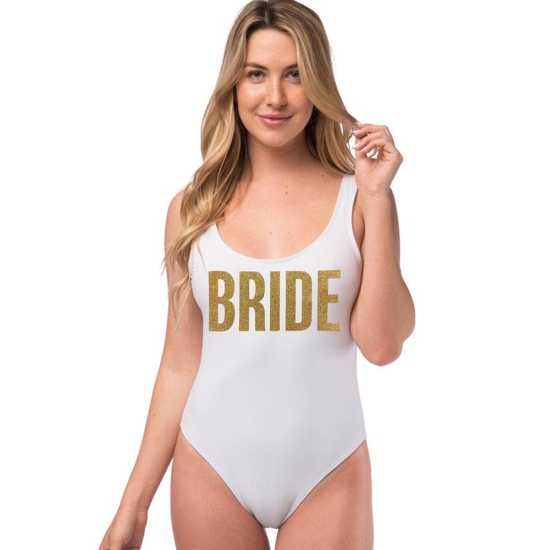 ca319888bab6f Bride Bathing Suit Bride One Piece Bachelorette Bikini