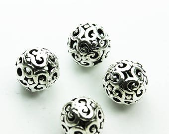 Polished Beads Wholesale Sterling Bead Seamless 8mm Sterling Silver Round Beads US Made Beads 8mm Round Balls with 1.5 mm Hole 50pc