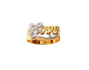 LR2109-10K Gold LOVE RING