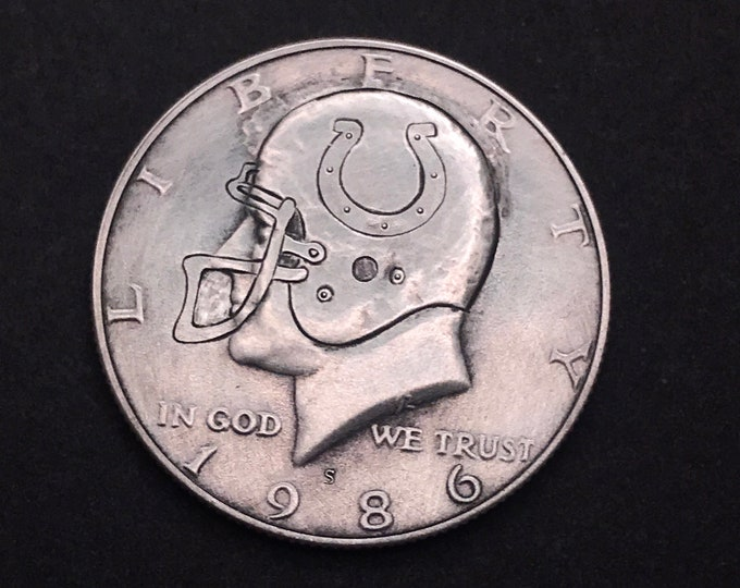 Indianapolis Colts JFK Hobo Nickel Half Dollar