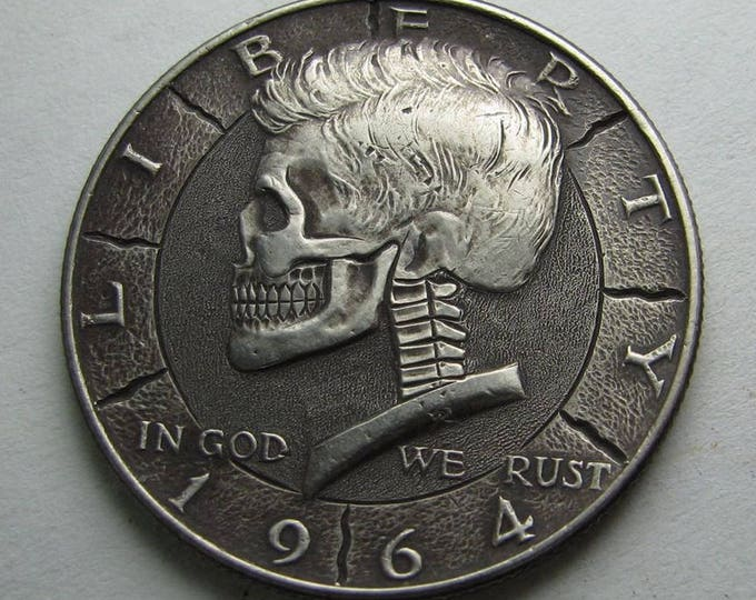 Hobo Nickel Skull 1964 JFK Silver Half