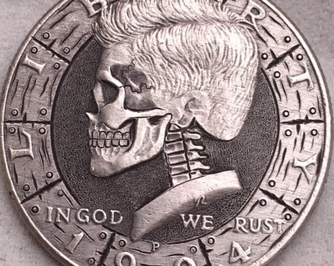 Hobo Nickel Skull JFK Half