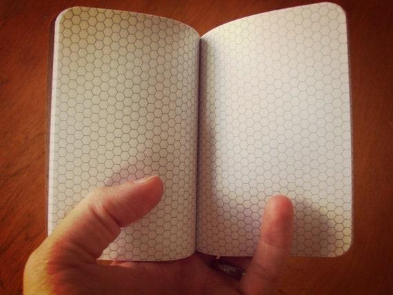 Civilization V Hex Paper Notebook, Pocket Journal, Gamers, Programmers,  Personalized Journal, Kraft Paper Notebook, Hexagon Grid Paper