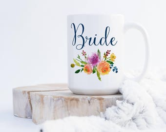 Bride -Bridal Party Coffee Mug Collection - Wedding Party Gift - Add Name