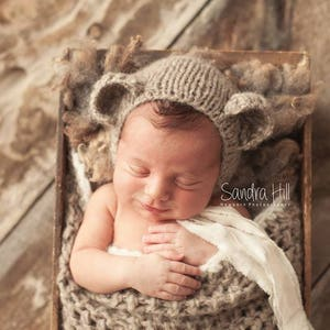 Newborn Photo PropNewborn PatternPDF PatternNewborn HatKnitting PatternKnit Baby HatKnit your OwnBraided Tail Sleepy Cap
