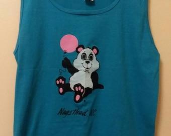 Nags Head NC Tank Top Vintage Tank Top Panda Bear T-Shirt Graphic Tees Retro Tanks Men/'s Tank Women/'s Tanks Beach Tank Outer Banks NC Shirt