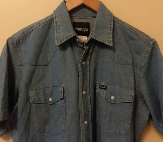 Wrangler Rancher Shirt Wrangler Denim Shirt Vintag