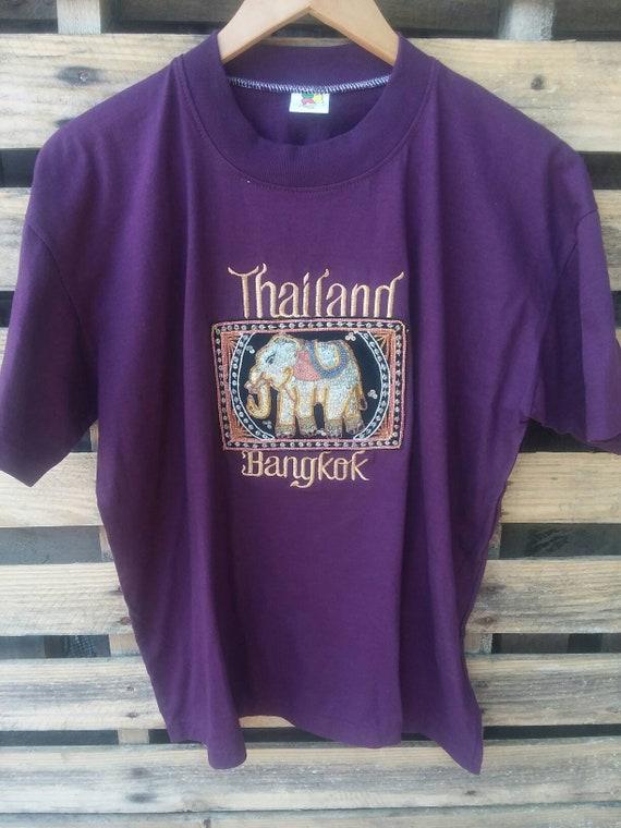 Unisex /& Women/'s Shirts Thailand Travel Around The Clock Bangkok I Love Thailand T-Shirt Thailand Tourist Thailand Gift Bangkok Shirt