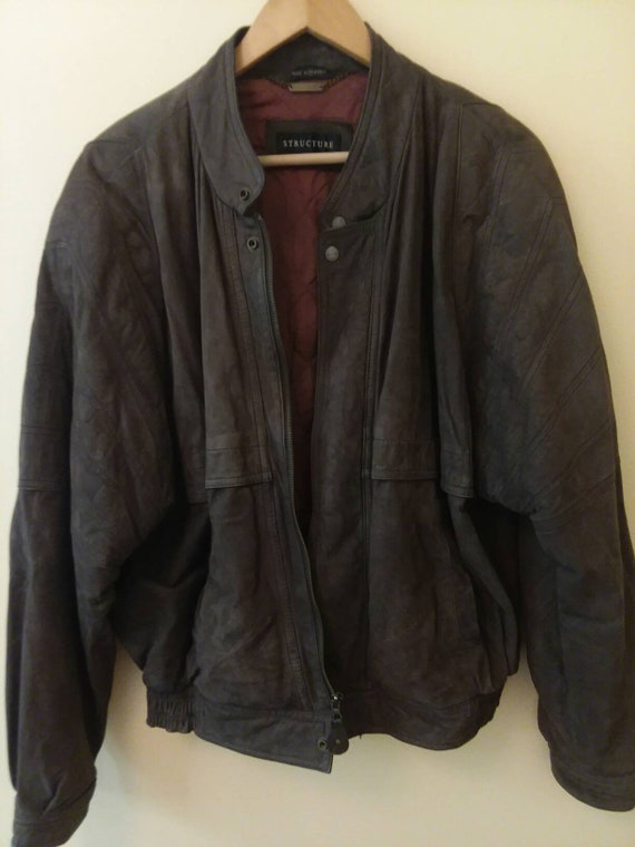Structure Leather Jacket Suede Jacket Structure Ja