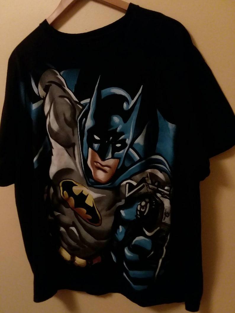 Batman T-Shirt Graphic Tees Vintage T-Shirt DC Comics T-Shirt Adult XL Tees Super Hero Shirts Comic Shirts 90s Batman Shirt Men/'s T-Shirt