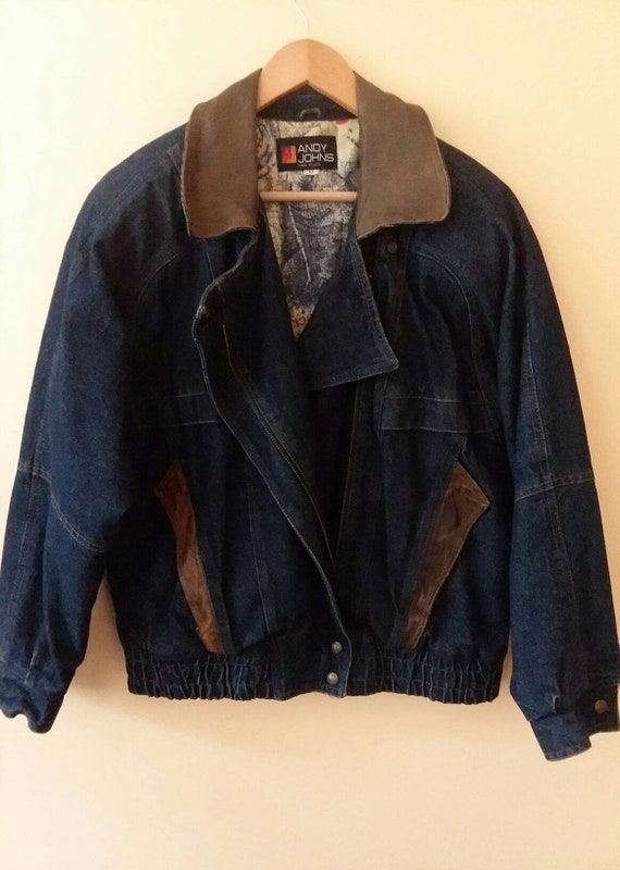 Andy Johns Denim Jacket Vintage Denim Jacket Bombe