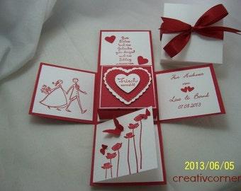 Money gift box for the wedding