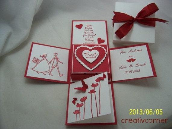 Geldgeschenk Box Zur Hochzeit Etsy