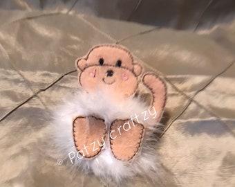 Monkey hair clip