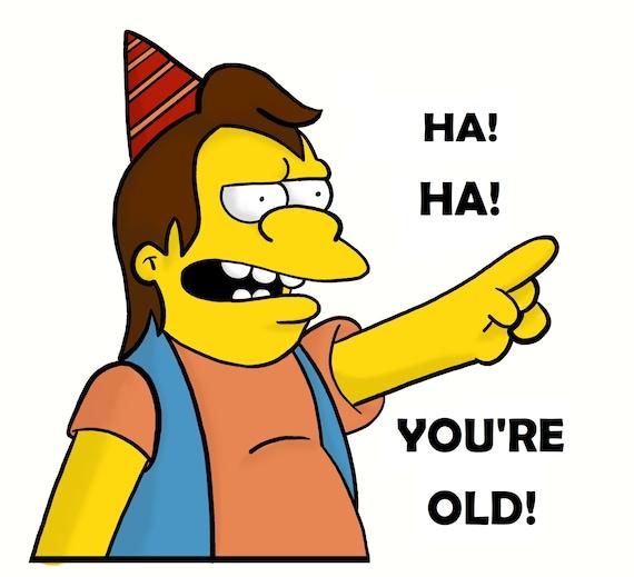 Simpsons Cartes D Anniversaire Inspires Etsy