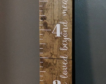 Wooden growth chart etsy