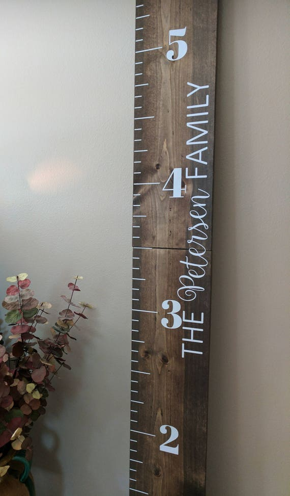 Wood Growth Chart Ruler Custom Growth Chart Ruler Wooden Etsy