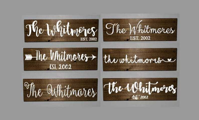 Family name sign family wooden sign established sign last  e8b428d8540c