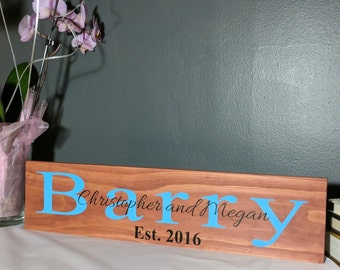 Custom last name established family wood sign, wood sign, custom sign, established sign, family sign, anniversary gift, wood plaque, wooden