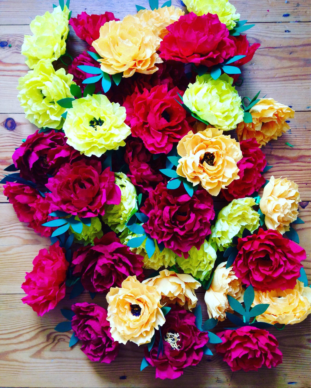 Flower Garlands For Weddings: Paper Flower Garland Floral Garland Colourful Wedding