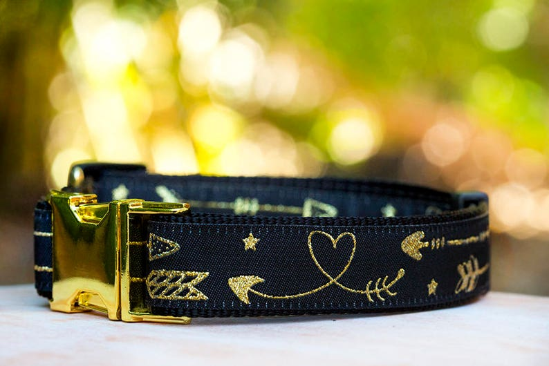 Dog Collar / Gold Arrows Dog Collar / Aztec Arrows Dog Collar image 0