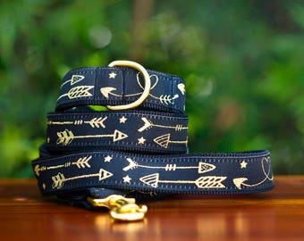 Golden Arrows Dog Leash / Made in Australia / Gold Dog Lead