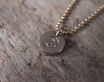 Gold Moon Necklace - Dainty Necklace, Gold Necklace, Layering Necklace, Half Moon Necklace, Gift for Daughter, Celestial Jewelry