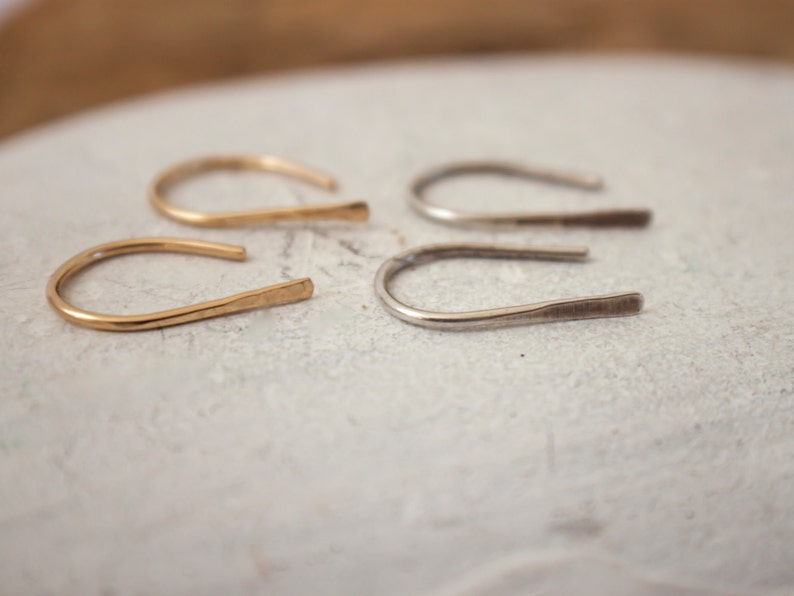Everyday Earrings Gift for Her Simple Silver Earrings Christmas Gift Dainty Earrings Open Hoop Earrings Minimalist Silver Hoops