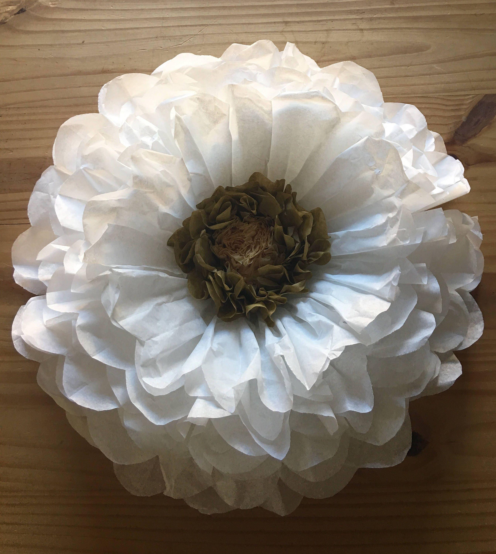 Oversized White Paper Flower Wedding Flower Tissue Paper Etsy