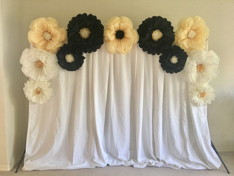Giant Tissue Paper Flower Backdrop For Party Decor Wedding Receptions Bridal Showers Or Event Backdrops