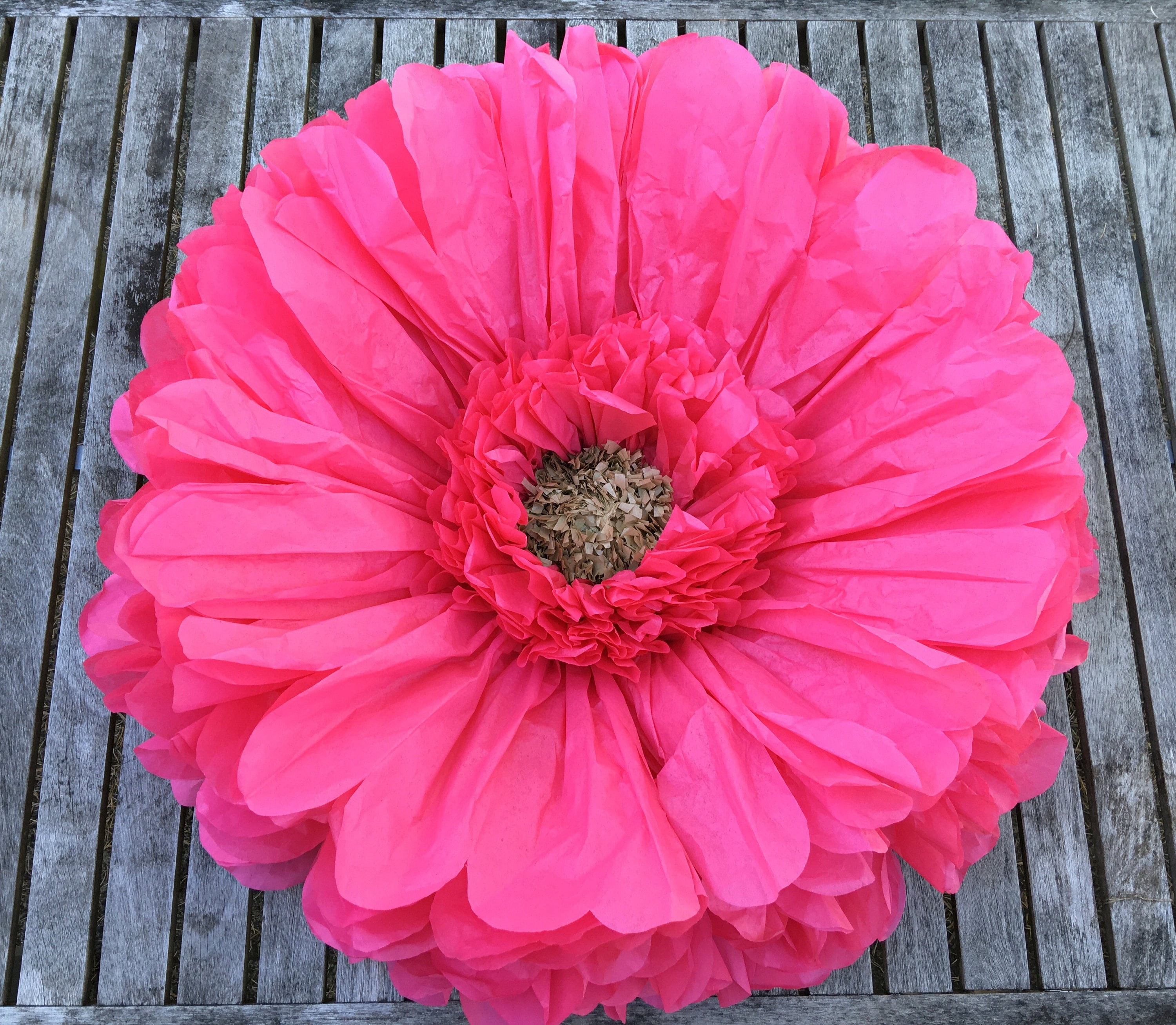 Giant Pink Paper Flower Perfect For Kids Rooms Home Decor Etsy