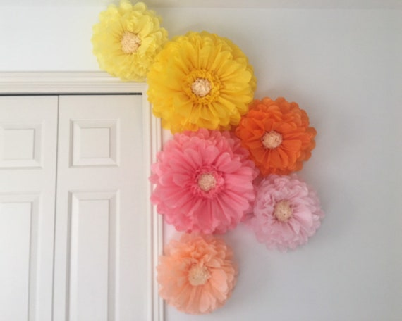 Giant Tissue Paper Flowers For Home And Nursery Decor Wall Etsy