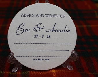 Wedding Advice & Don't take my drink Personalized 2 sided Coasters Round x 130